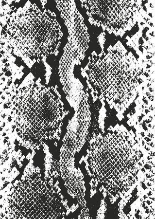 Verontruste bekledingstextuur van krokodil of slangenhuidleer, grunge vectorachtergrond.