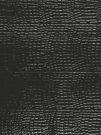 Distressed overlay texture of crocodile or snake skin leather, grunge vector background. Archivio Fotografico - 114992986