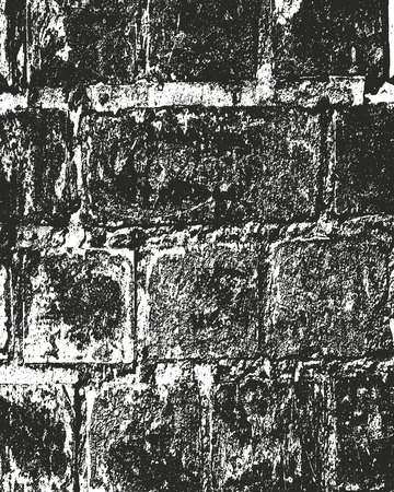 Distressed overlay texture of old brickwork, grunge background. abstract halftone vector illustration. Standard-Bild - 111905242