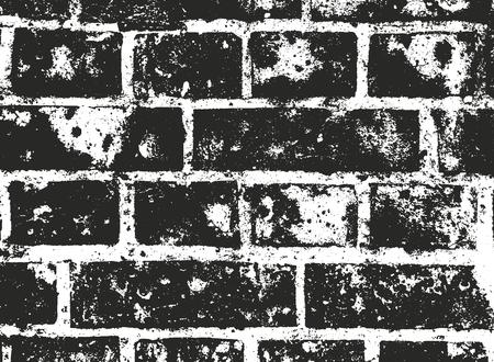 Distressed overlay texture of old brickwork, grunge background. abstract halftone vector illustration. Standard-Bild - 110513848