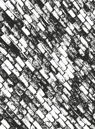 Distressed overlay texture of old brickwork, grunge background. abstract halftone vector illustration. Standard-Bild - 110408145
