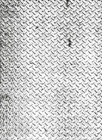 Distressed overlay texture of rusted peeled metal. grunge background. abstract halftone vector illustration Vektorové ilustrace