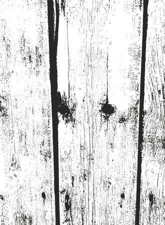 Distressed overlay wooden texture, grunge vector background.