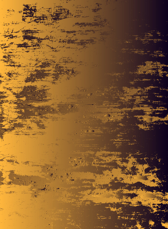Abstract vector cosmic psychedelic dark blue golden gradient background. Fractal shiny elements. Particle compounds.