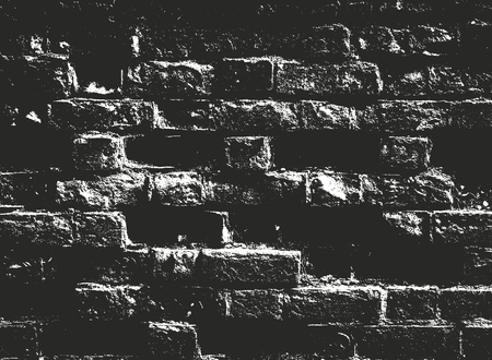 Distressed overlay texture of old brickwork, grunge background. abstract halftone vector illustration.