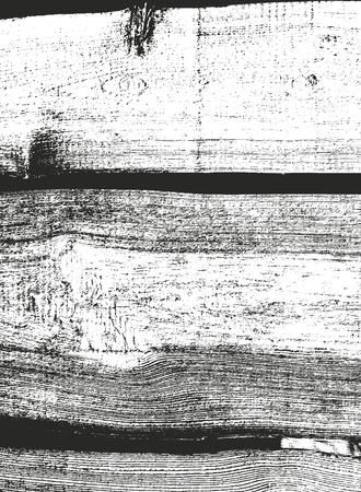 Textura de madera superpuesta apenada, fondo de vector grunge. Ilustración de vector