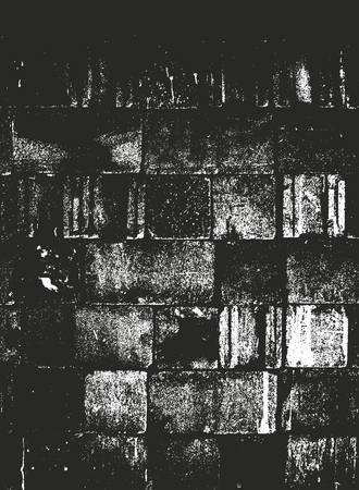 Distressed overlay texture of old brickwork, grunge background. abstract halftone vector illustration. Banque d'images - 126852305