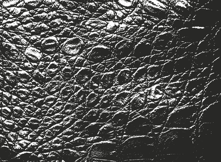 Distressed overlay texture of crocodile or snake skin leather, grunge vector background. Archivio Fotografico - 126329324