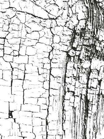 Distressed overlay wooden texture, grunge vector background. Vetores