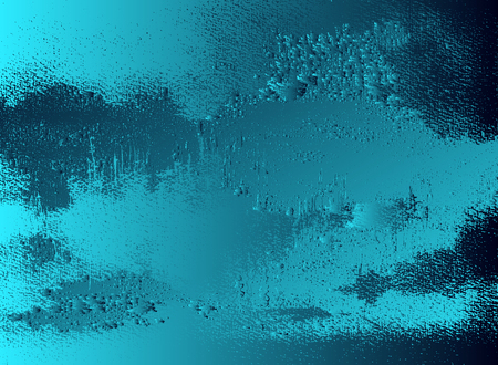 Abstract vector cosmic psychedelic blue and turquoise gradient background. Fractal shiny elements. Particle compounds. Ilustração