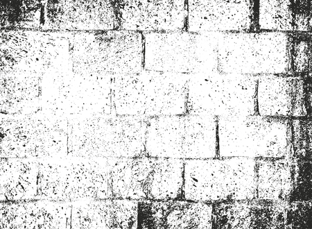 Distressed overlay texture of old brick wall, grunge background. abstract halftone vector illustration. Иллюстрация
