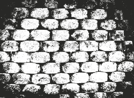 Distressed overlay texture of old brick wall, grunge background. abstract halftone vector illustration. Ilustração