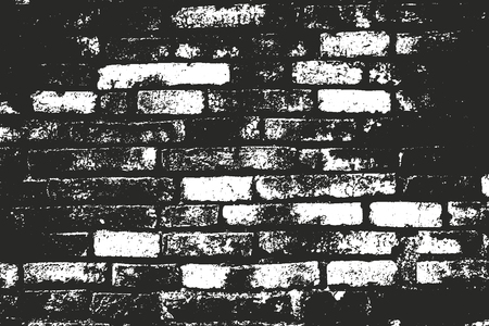 Distressed overlay texture of old brick wall, grunge background. abstract halftone vector illustration. Illustration