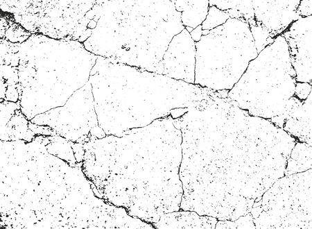 Distressed overlay texture of cracked concrete, stone or asphalt. grunge background. abstract halftone vector illustration Ilustração Vetorial