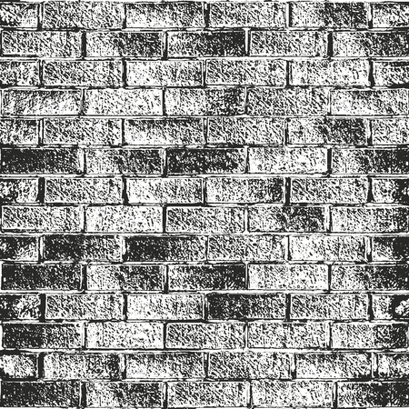 Distressed overlay texture of old brick wall, grunge background. abstract halftone vector illustration.