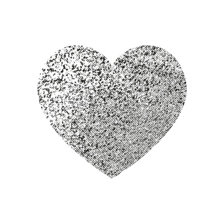 Isolated distress grunge heart with concrete texture. Element for greeting card, Valentine s Day, wedding. Creative concept.