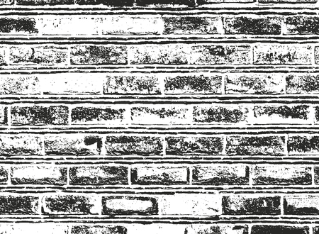 Distressed overlay texture of old brick wall, grunge background. abstract halftone vector illustration. 일러스트