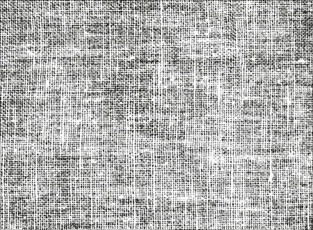 Texture de superposition en détresse de tissu de tissage. fond grunge. illustration vectorielle abstraite demi-teinte Vecteurs