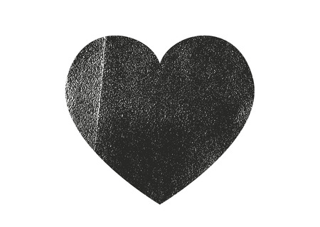 Isolated distress grunge heart with leather texture. Element for greeting card, Valentine s Day, wedding. Creative concept. Vector illustration 일러스트