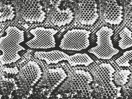 Texture sovrapposta in difficoltà di pelle di coccodrillo o serpente, sfondo grunge. illustrazione vettoriale astratta mezzitoni abstract Vettoriali