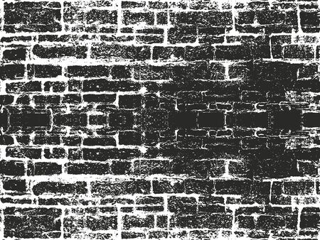 Distressed overlay texture of old brick wall, grunge background. abstract halftone vector illustration. Ilustrace