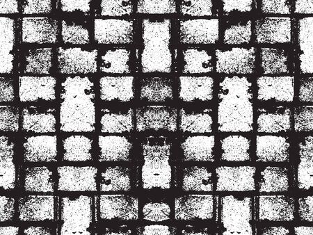 Distressed overlay texture of floor tiles. grunge background. abstract halftone vector illustration.