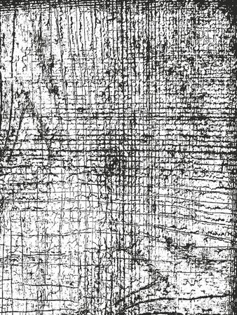 Textura de tablón de madera de superposición angustiada, fondo grunge. Ilustración de vector de semitono abstracto Ilustración de vector