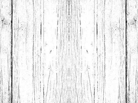 Distressed overlay wooden plank texture, grunge background. abstract halftone vector illustration Vettoriali