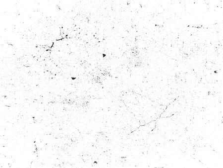 Distressed Overlay-Textur von gerissenem Beton, Stein oder Asphalt. Grunge-Hintergrund. abstrakte Halbton-Vektor-Illustration