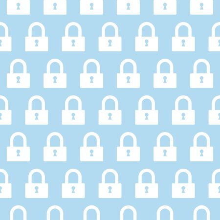 vector seamless pattern with lock Illustration