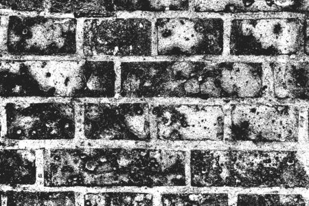 Distressed overlay texture of old brick wall, grunge background. abstract vector illustration.