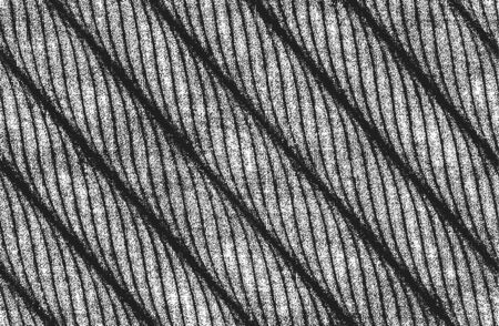 Distressed overlay texture of twisted rope. grunge background. abstract halftone vector illustration
