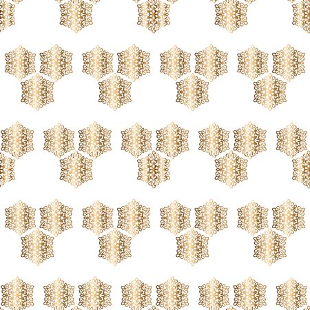 Abstract golden openwork seamless pattern with ornament. Background for wallpaper