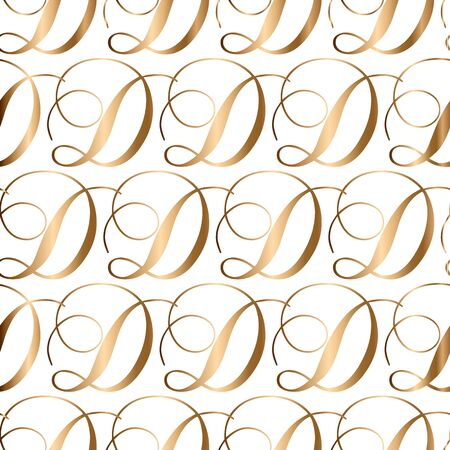 Abstract golden seamless pattern with ornament. Background for wallpaper