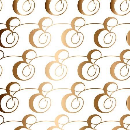 Seamless golden vintage background. Vector for textile design.