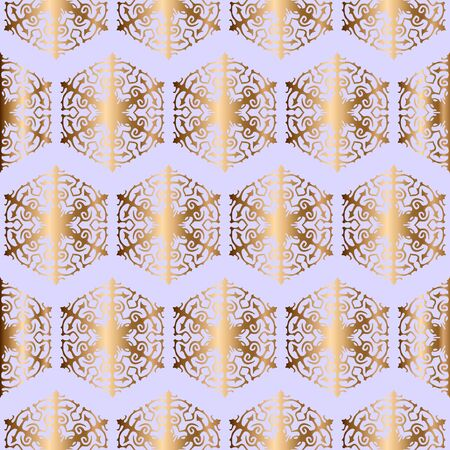 Snowflakes seamless pattern - vector background for continuous replicate.