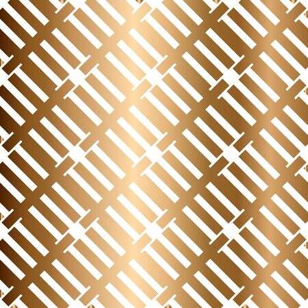 Abstract vector golden geometric seamless pattern. Background
