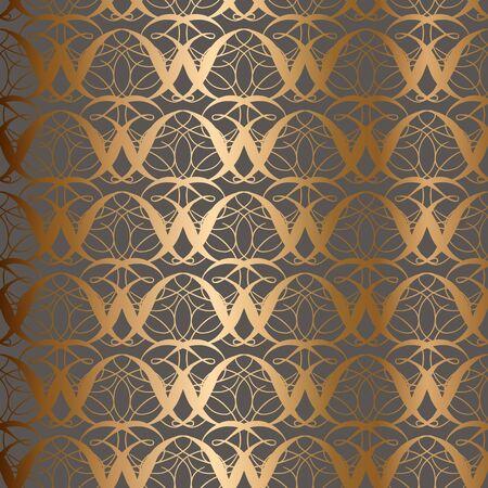 Seamless vintage golden background. Vector for textile design.