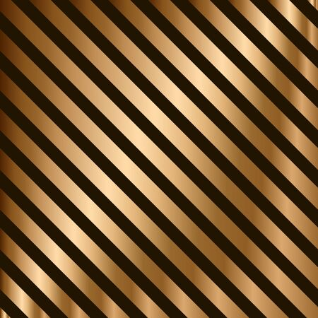 Vector striped seamless pattern with golden diagonal stripes. Colorful background. Wrapping paper. Print for interior design and fabric. Backdrop in vintage style.