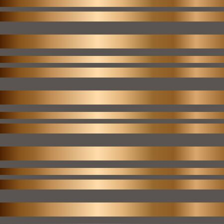 Vector striped seamless pattern with golden horizontal stripes. Colorful background. Wrapping paper. Print for interior design and fabric. Kids background. Backdrop in vintage style.