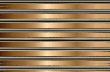 Abstract golden pattern with horizontal stripes. Luxury background. Standard-Bild