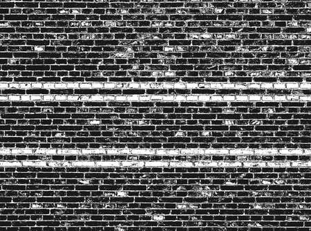 Distressed overlay texture of old brick wall, grunge background. Stock Illustratie