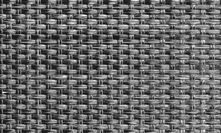 Distressed overlay wicker vine texture. grunge black and white background. abstract halftone vector illustration Illusztráció
