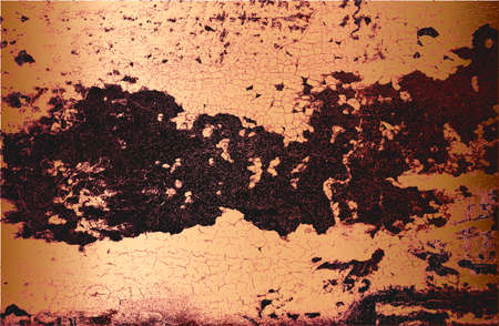 Distressed overlay texture of golden rusted peeled metal. grunge background. abstract halftone illustration Stock fotó