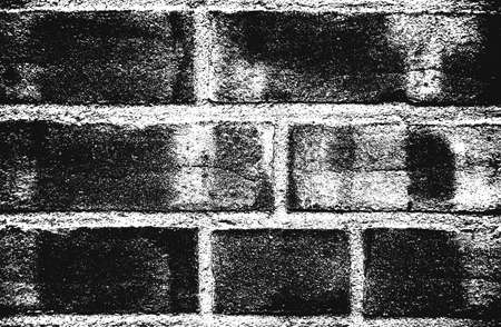 Distress old brick wall texture. Black and white grunge background. Stock fotó