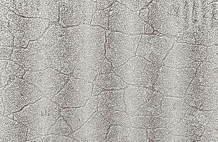 Distressed overlay texture of silver cracked concrete Illustration