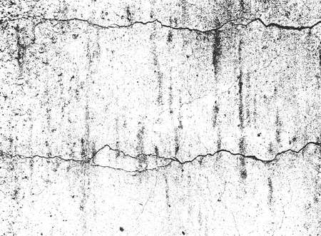 Distress old cracked concrete wall texture vector.