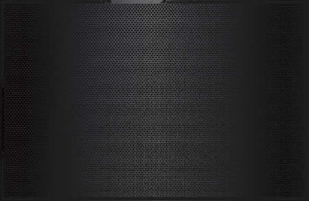 Luxury black metal gradient background with distressed metal plate texture.