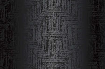 Luxury black metal gradient background with distressed wicker vine ornament texture.