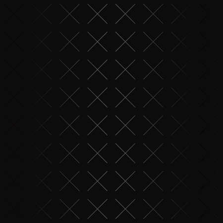 Luxury black metal gradient background with geometric seamless pattern, diagonal parallel crossed stripes Illustration